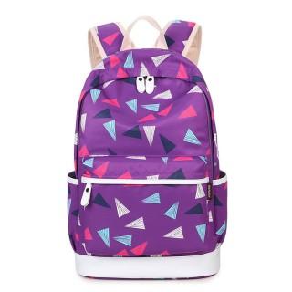 """Рюкзак """"Треугольники"""" фиолетовый"""