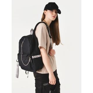 Рюкзак «Молодёжный» чёрный с серым