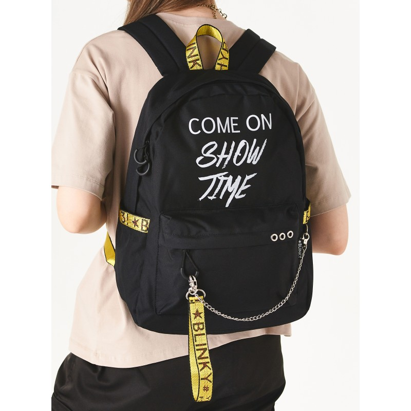 Рюкзак «Come on Show Time» чёрный с желтым
