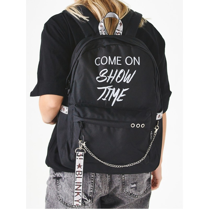 Рюкзак «Come on Show Time» чёрный с серым
