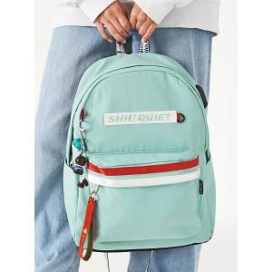 Рюкзак «Shh! Quiet!» blue красно-белый